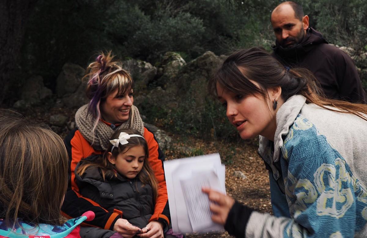 Marta Viña durant el rodatge del film a Arnes