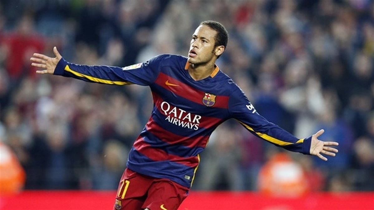 Neymar amb la samarreta del Barça, en una imatge d'arxiu