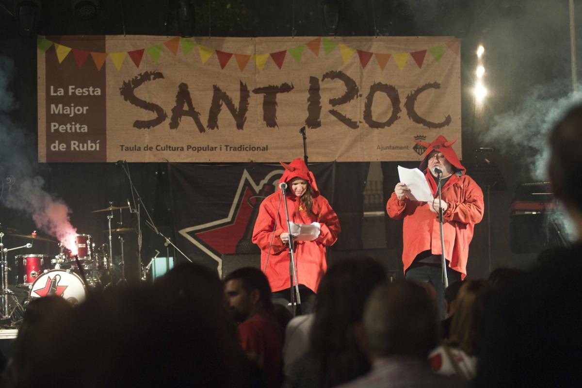 Els versots, una de les activitats més esperades de la Festa Major de Sant Roc