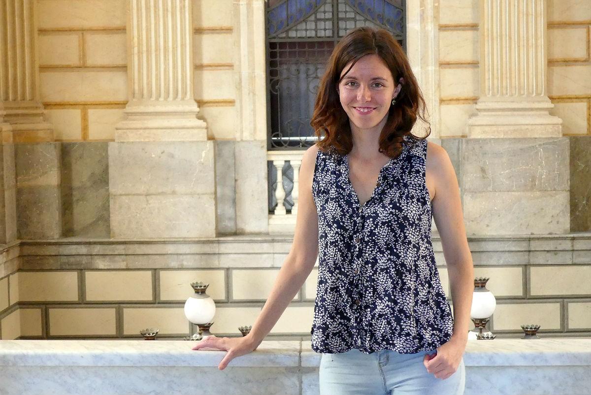 Carla Aguilar, primera tinenta d'alcalde de Tarragona, durant l'entrevista.