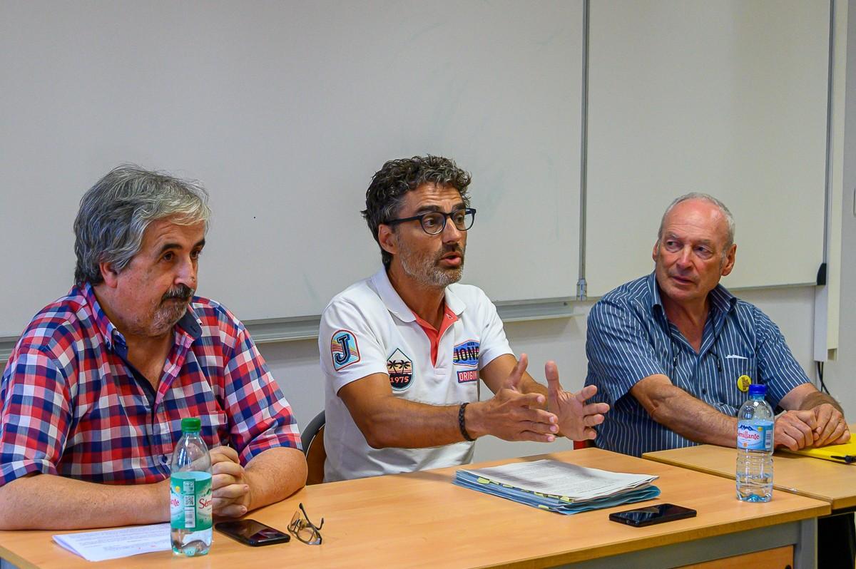 Joan Puig, Xavier Martínez-Gil i Jordi Taurinyà, membres del Col·lectiu 1r d'Octubre