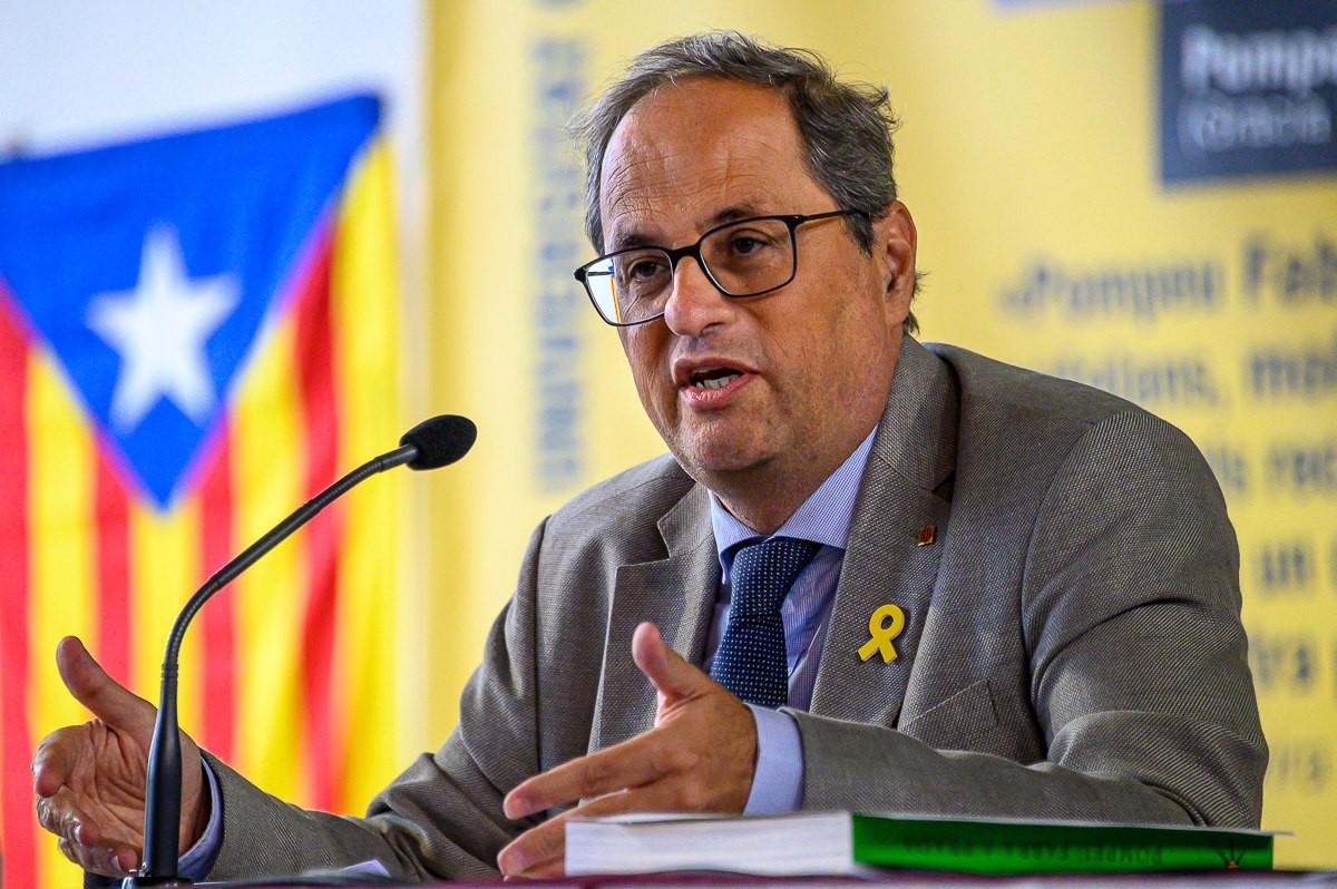 Quim Torra, en la seva intervenció a la Univesritat Catalana d'Estiu, aquest dimarts