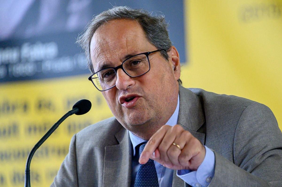 El president de la Generalitat, Quim Torra, a Prada de Conflent aquest dimarts