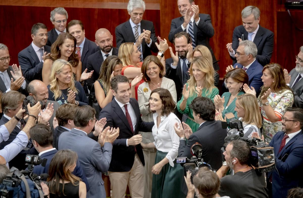 Díaz Ayuso, després de ser investida presidenta de la Comunitat de Madrid.