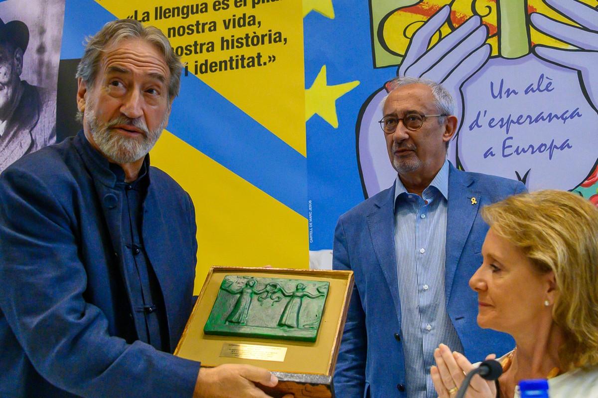 Jordi Savall, amb Jordi Casassas i Mariàngela Vilallonga