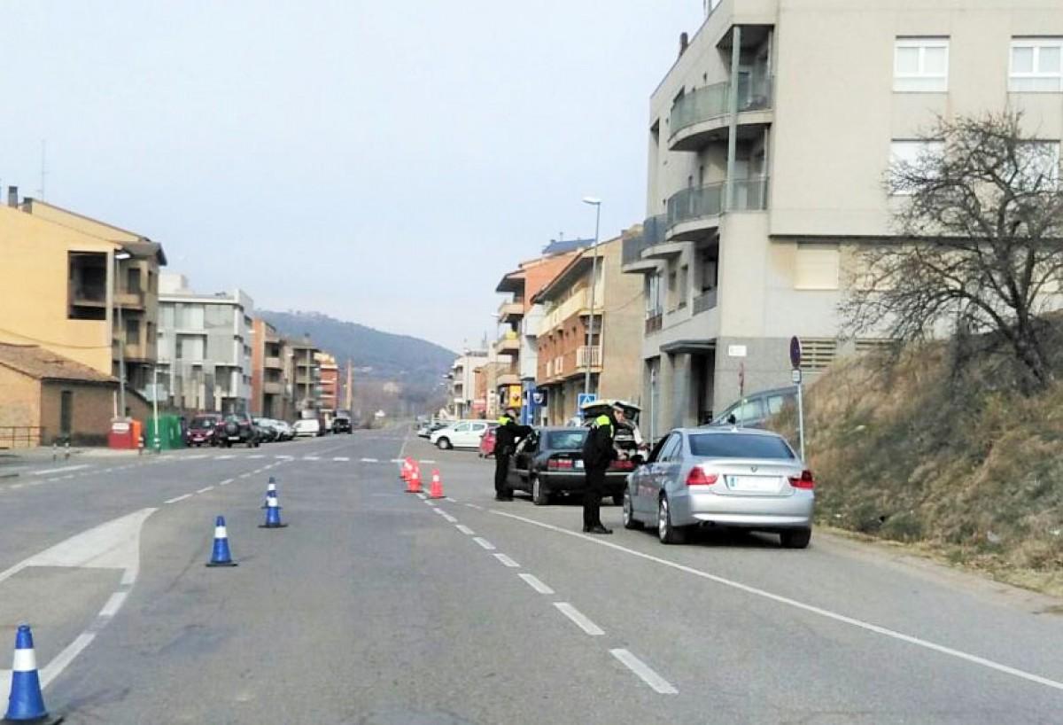 A la carretera de Sant Llorenç es detecten velocitats iguals o superiors als 99 km/h