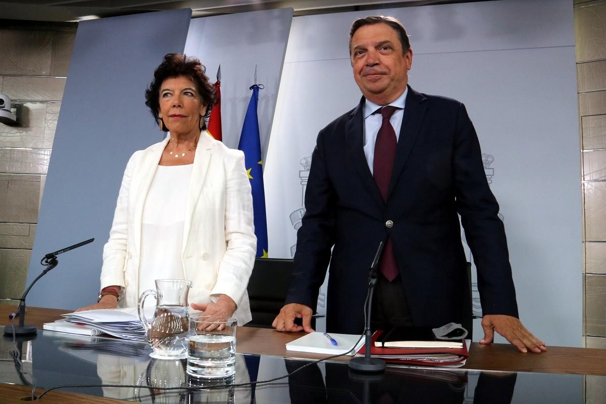 La portaveu del govern espanyol, Isabel Celáa, en roda de premsa aquest divendres