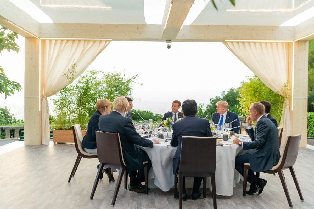 Els set mandataris del G-7, a Biarritz