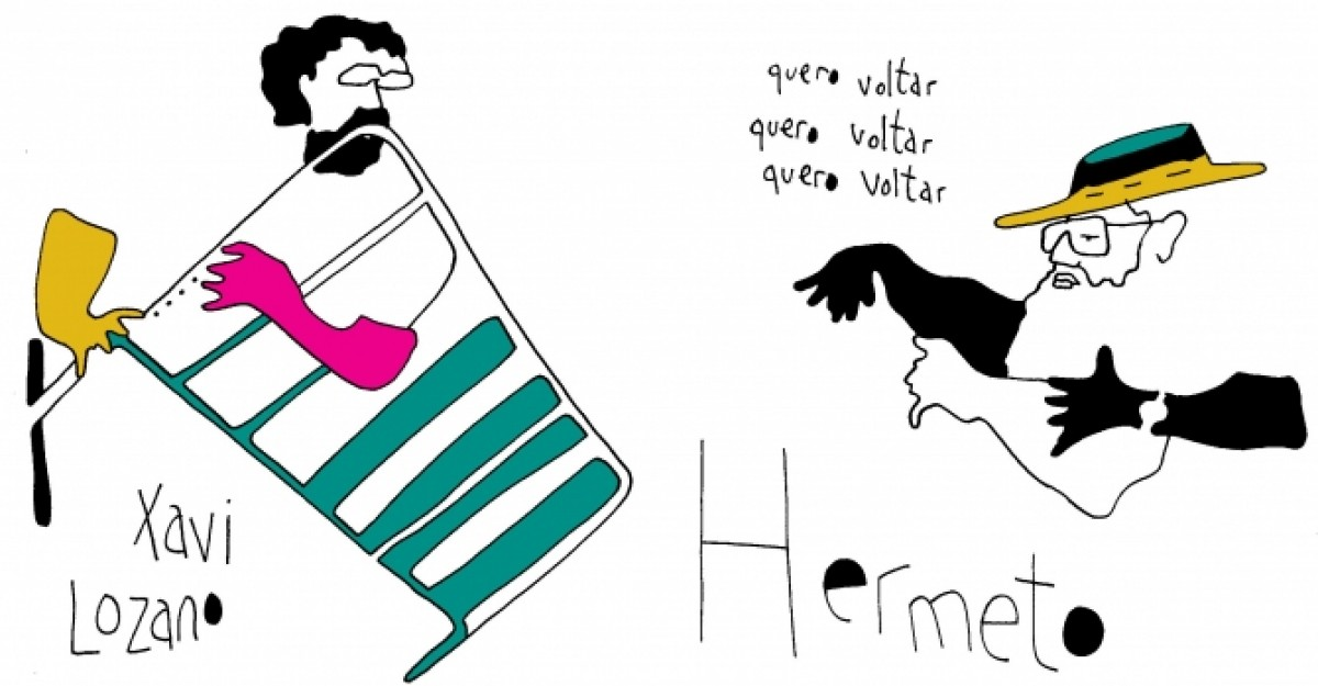Xavi Lozano i Hermeto Pascoal, dibuixats per Pedro Strukelj
