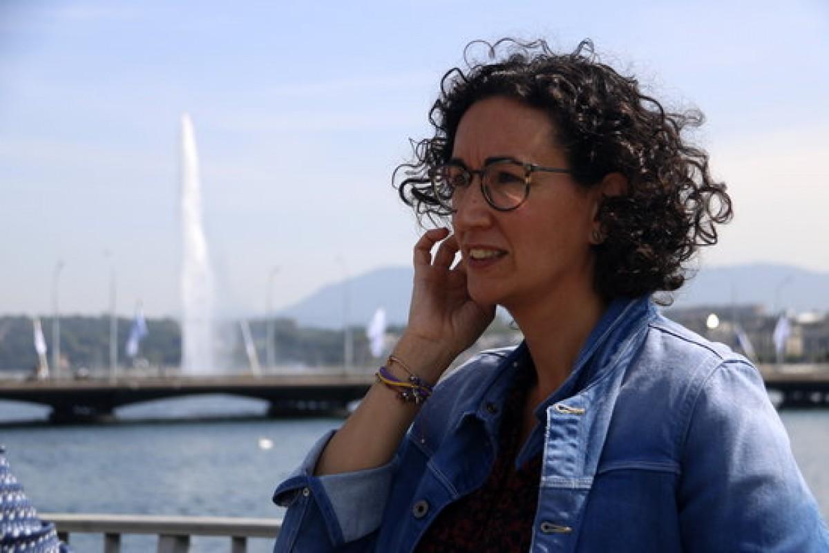 Marta Rovira en una imatge d'arxiu a Ginebra