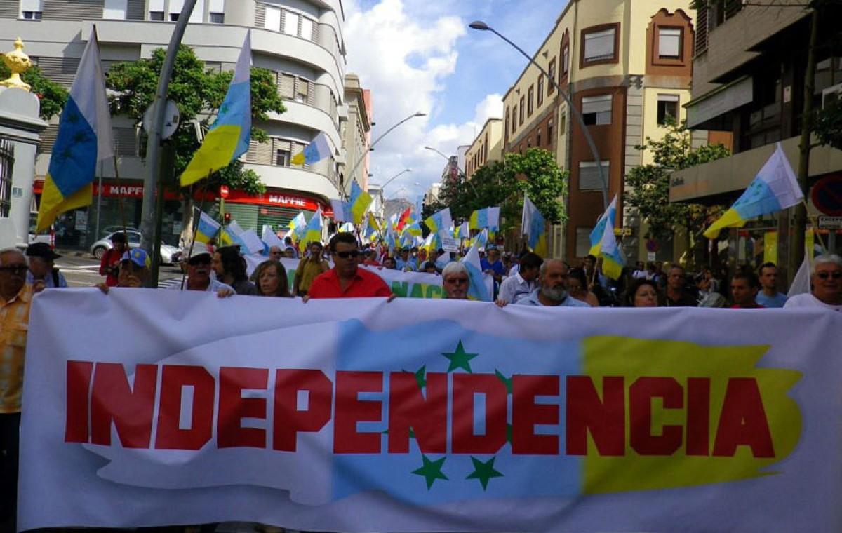 Manifestació independentista en la diada de Canàries