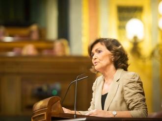 Carmen Calvo: «Torra ja no és diputat però és president»