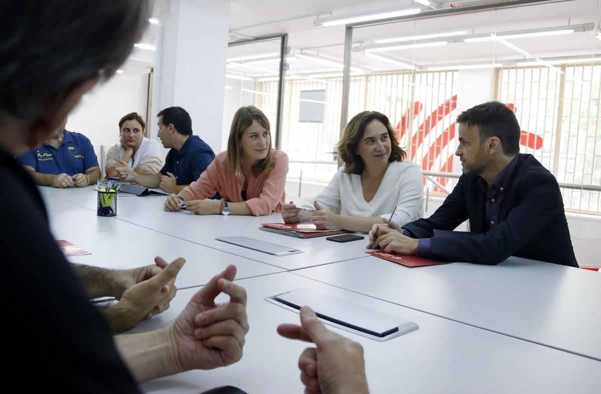 Ada Colau, amb Jaume Asens i Jéssica Albiach, seguint els resultats electorals del 10-N