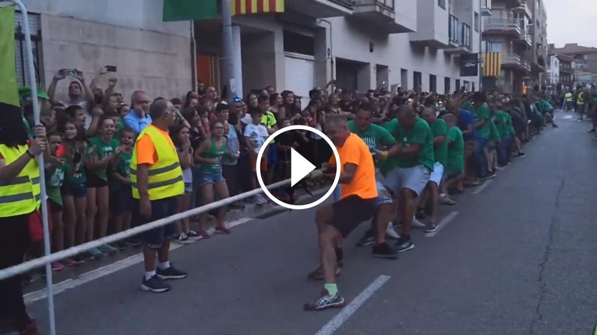 Estirada de Corda de Senys i Negres de la Festa Major de Sant Celoni 2019