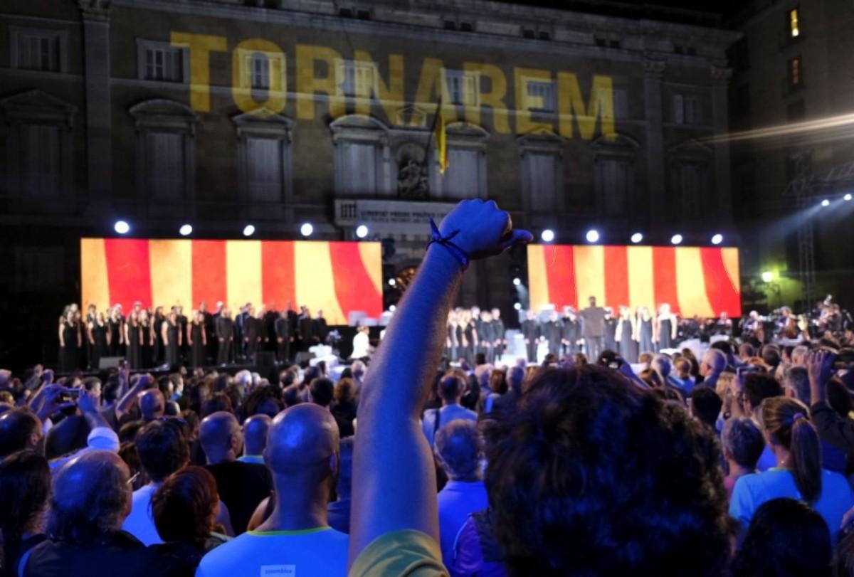 Acte institucional de la Diada 2019 a la plaça de Sant Jaume