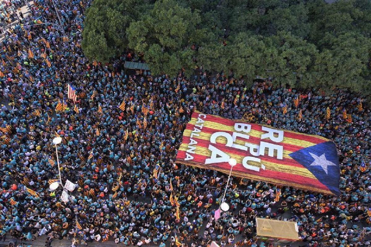 La manifestació de la Diada 2019, última mobilització abans de la sentència