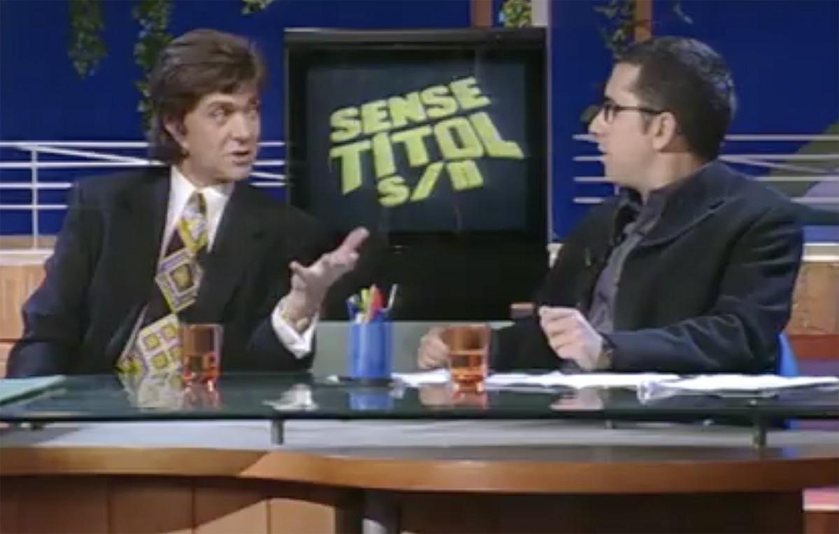 Camilo Sesto i Andreu Buenafuente, al «Sense Títol» de TV3
