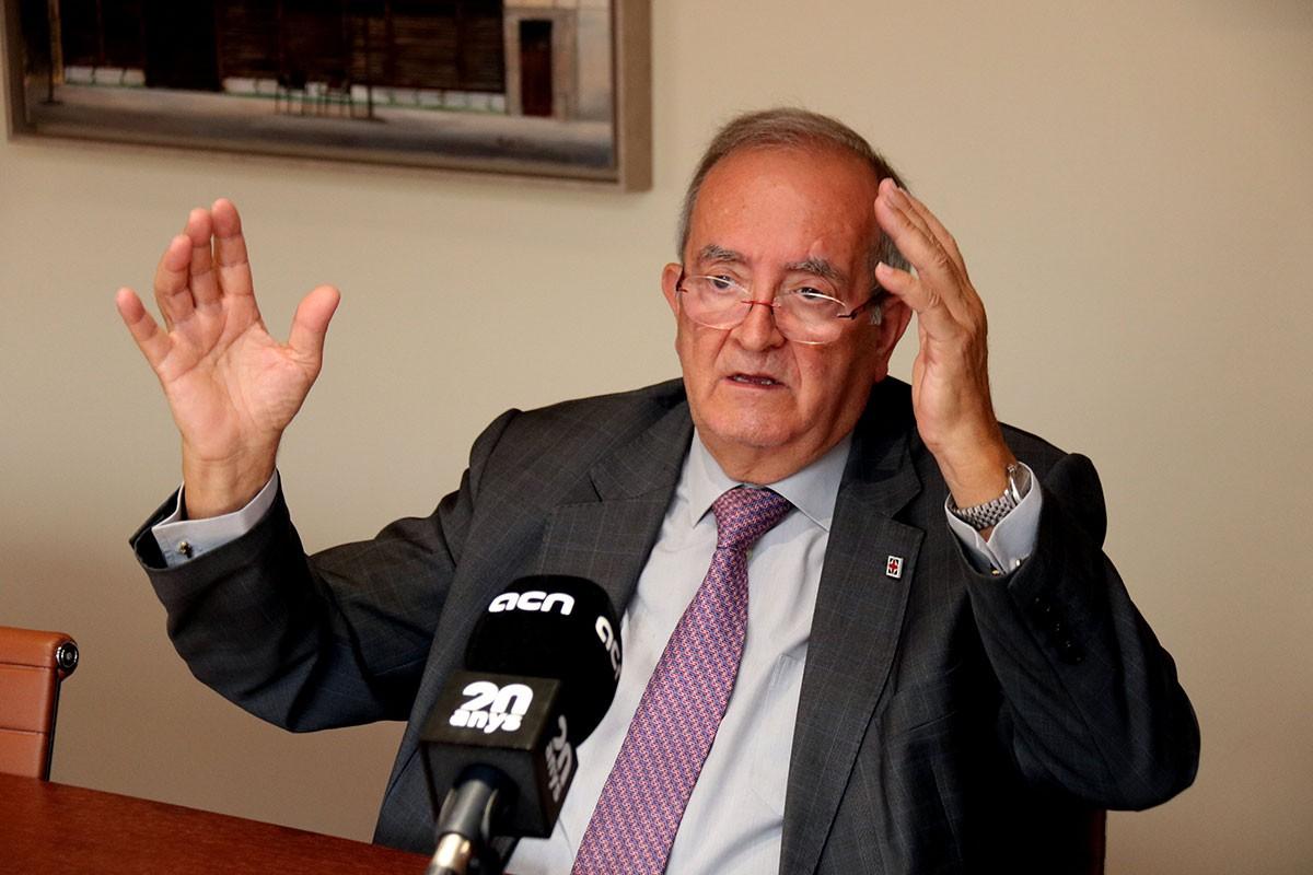 Josep González, durant l'entrevista.