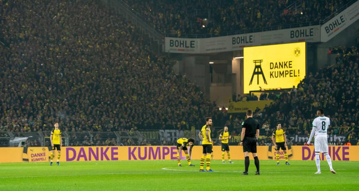 L'estadi del Borussia agraeix als ''camarades'' de les mines la seva contribució al desenvolupament i a la identitat de la regió del Ruhr