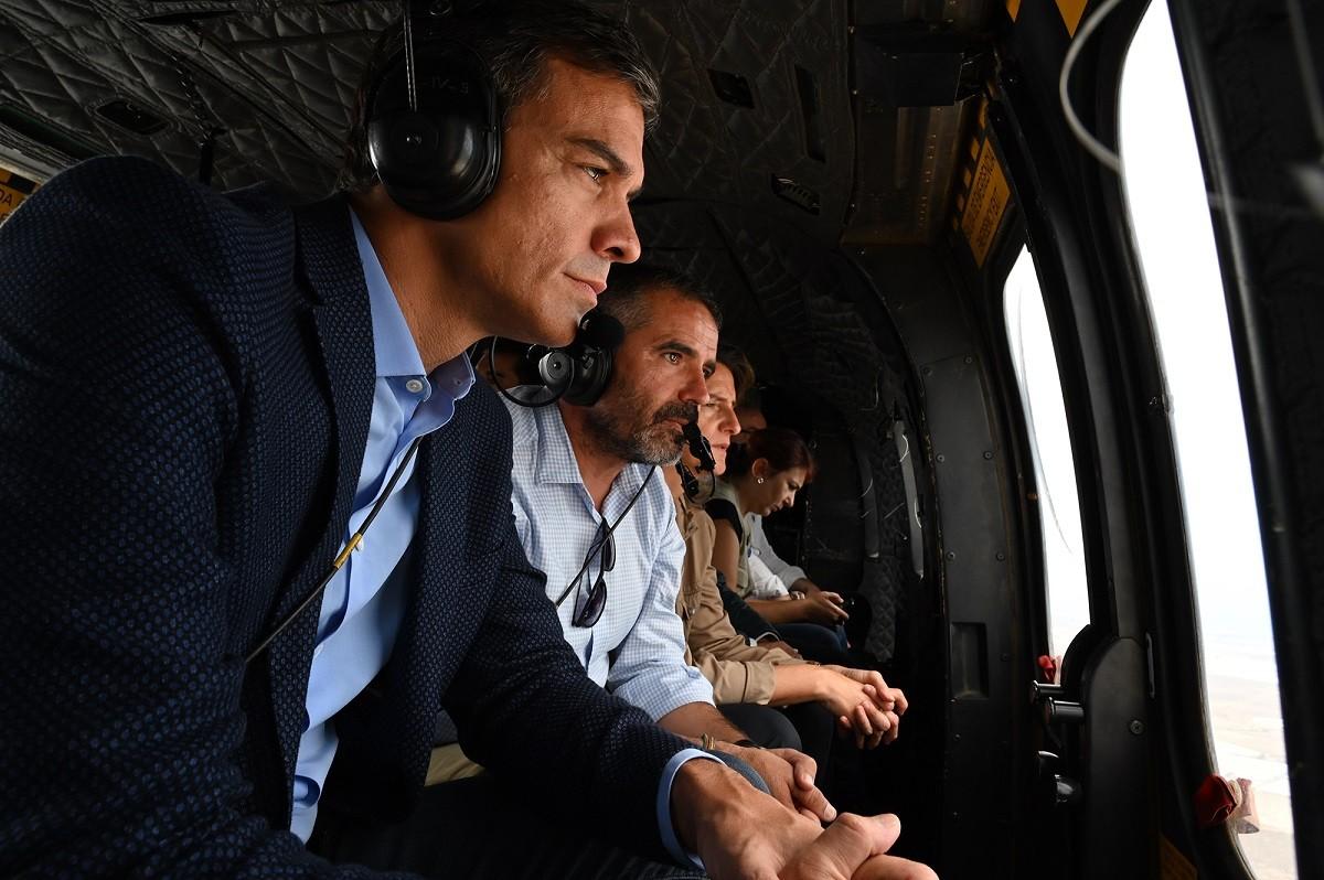 Pedro Sánchez visitant les zones afectades per les inundacions a Almería i Albacete