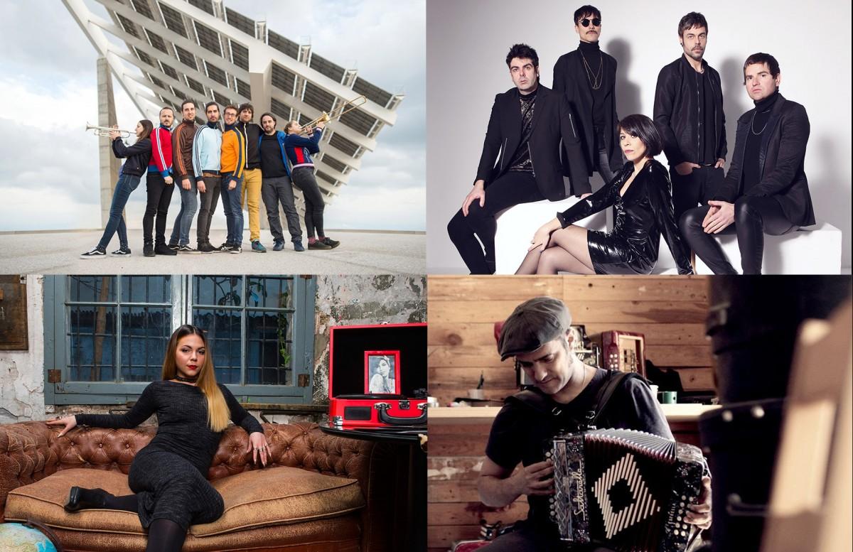 Quatre dels grups que tocaran al Mercat de Música Viva de Vic