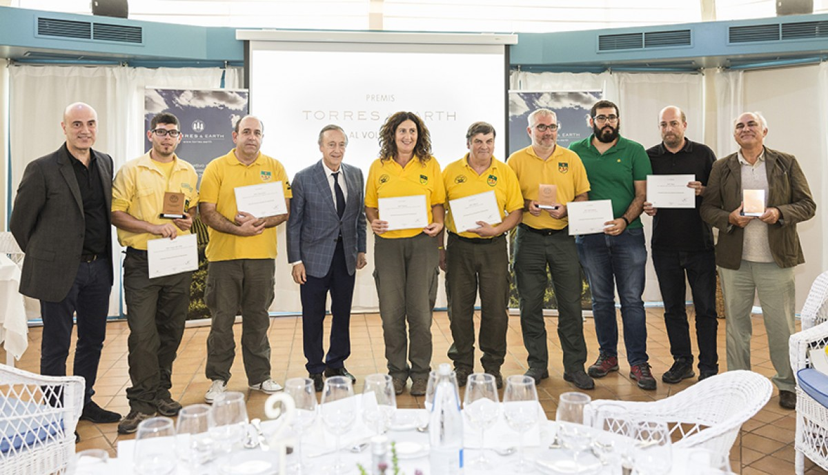 Tomàs Molina, Miguel A. Torres i els guardonats amb els I Premis Torres & Earth al voluntariat.