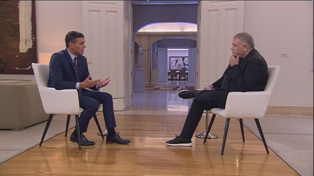Pedro Sánchez, durant l'entrevista a La Sexta
