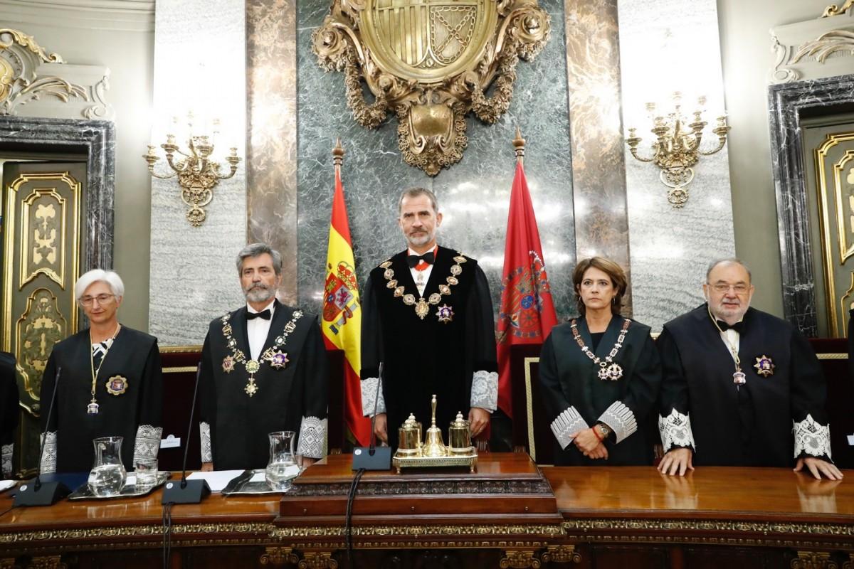 El rei Felip VI presideix l'acte solemne d'obertura de l'Any Judicial 2019/2020. El dret de gràcia és una atribució formal del rei, amb la contrasignatura del ministre de Justícia, a partir d'allò que li ha presentat el govern.
