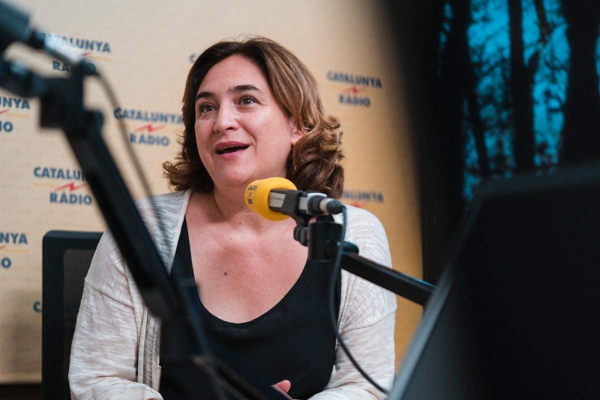 Ada Colau, a Catalunya Ràdio.