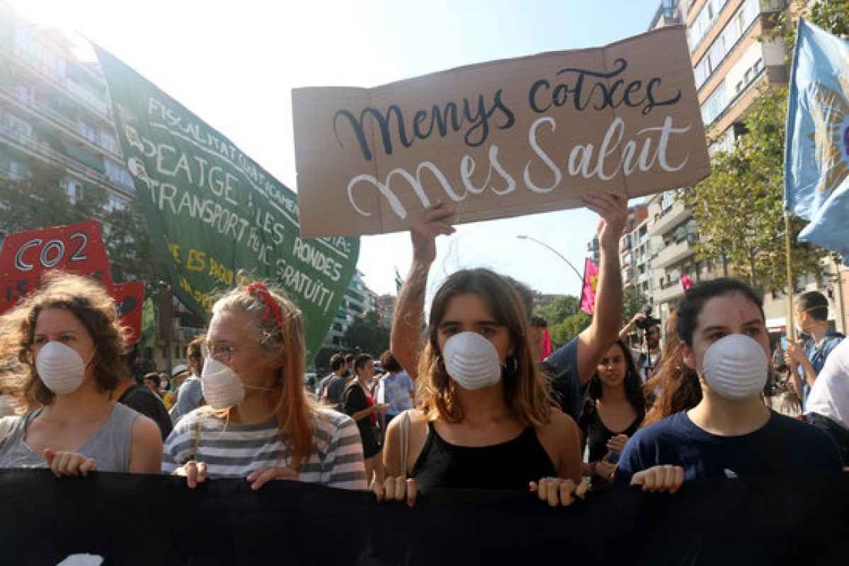 Una protesta per l'emergència climàtica