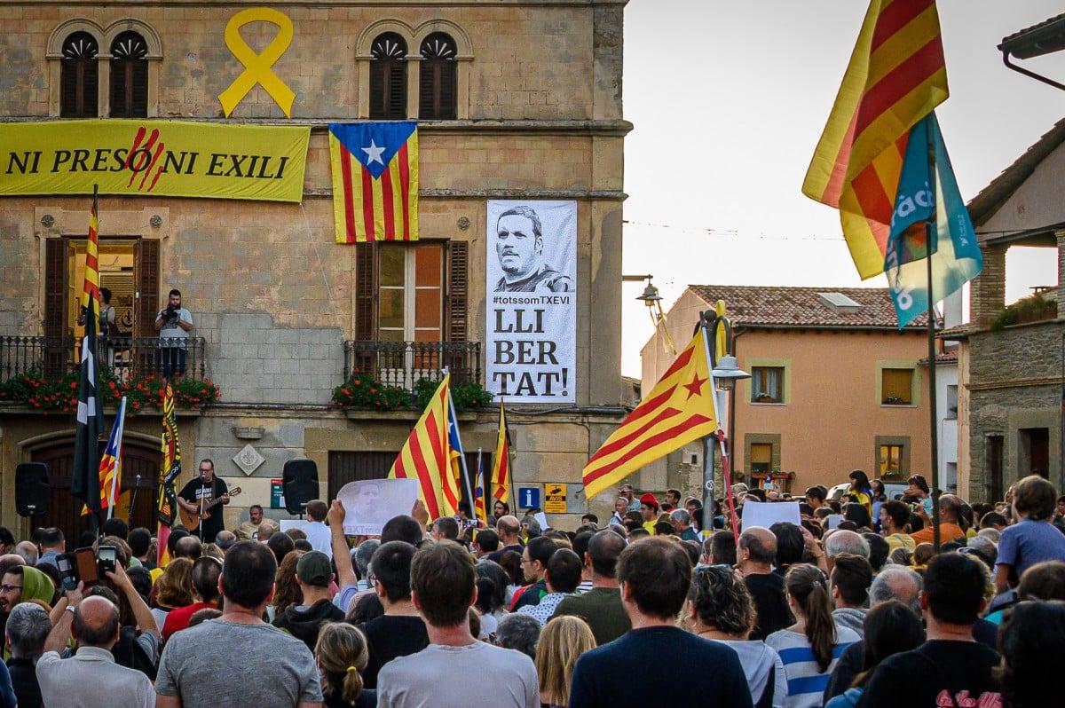 Una de les concentracions de suport a Txevi Buigas a Folgueroles