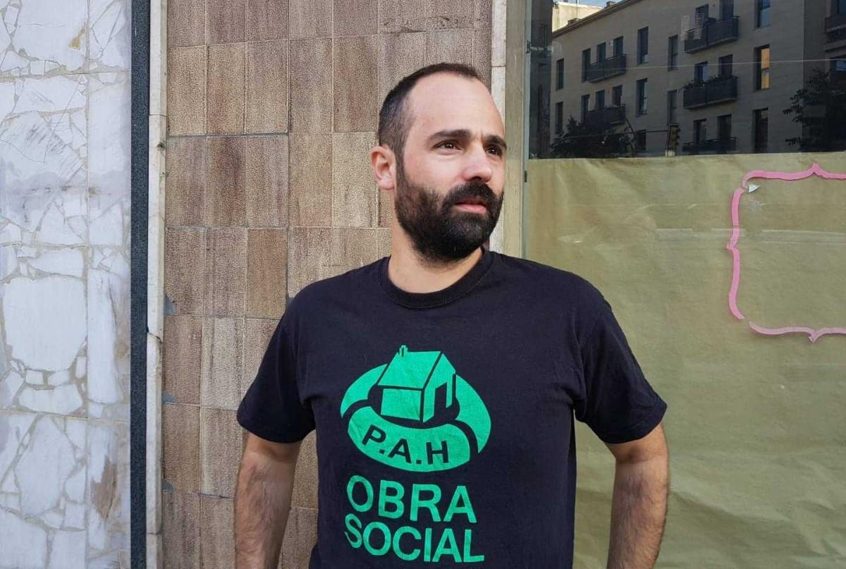 Bernat Sorinas, acusat d'agredir un agent dels Mossos durant una mobilització contra la pobresa energètica