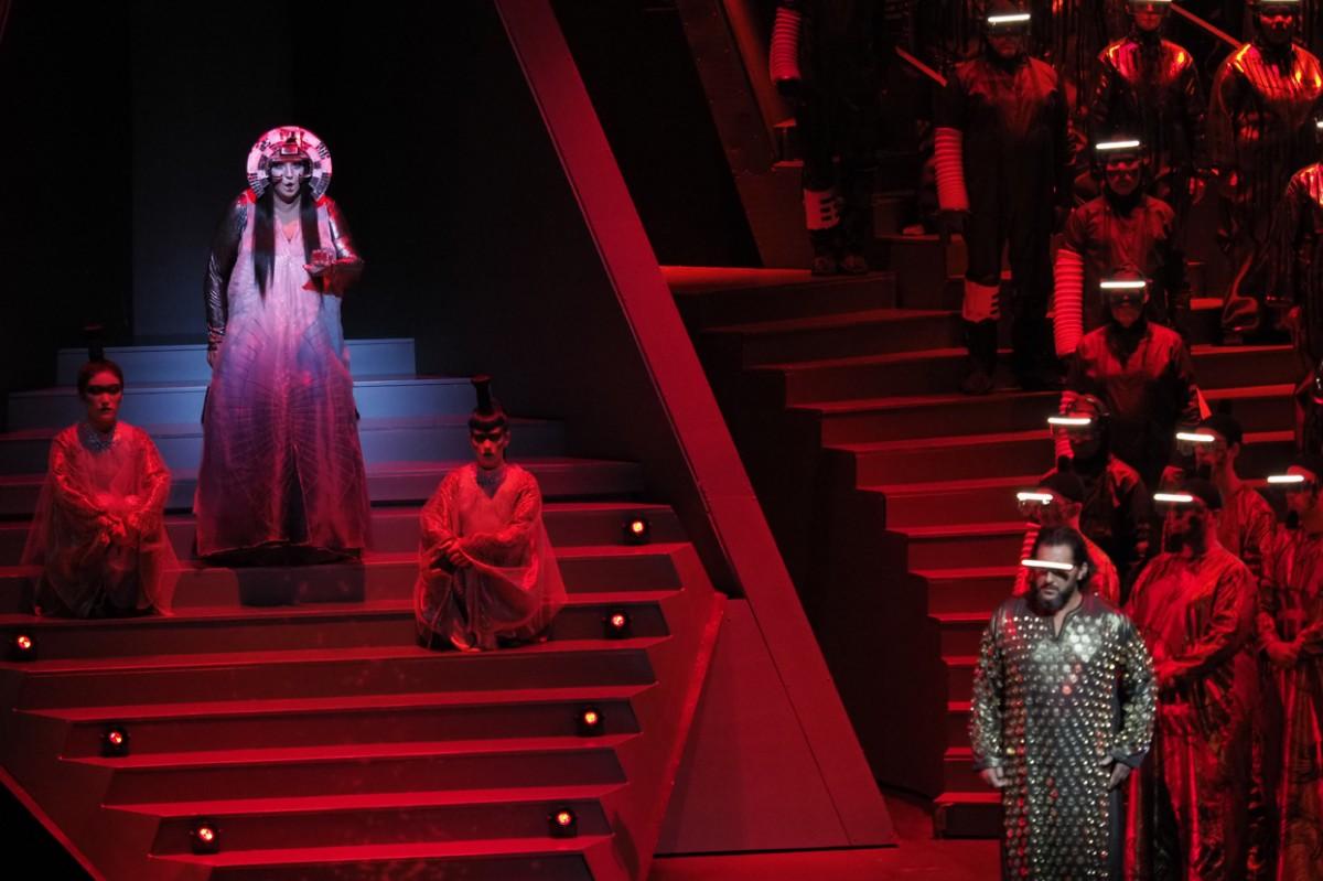 Moment de l'estrena de Turandot al Liceu