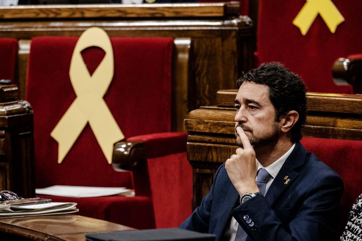 Damià Calvet, en el debat de la moció de censura contra Quim Torra