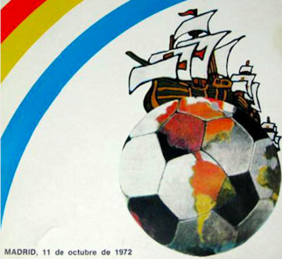 Cartell de la primera edició de la Copa de la Hispanitat, corresponent a 1972