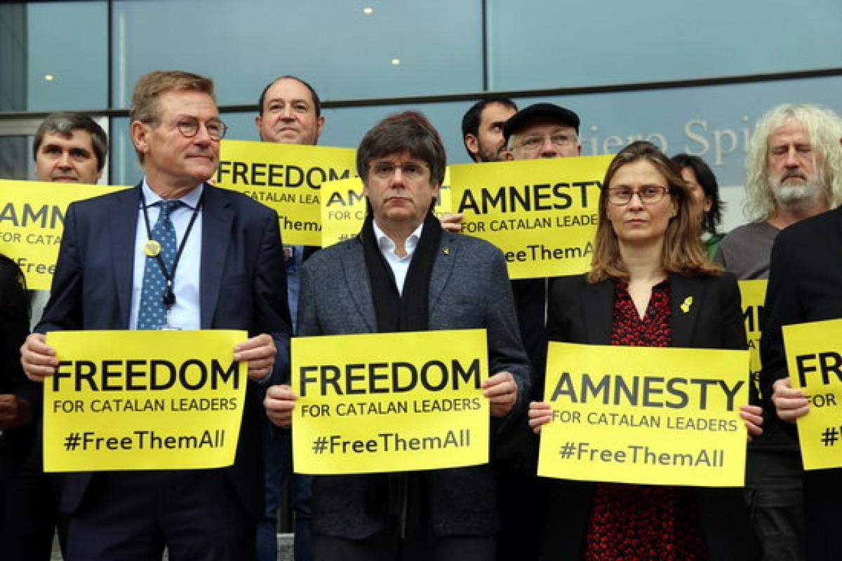 Puigdemont, aquest dimarts en una protesta a Brussel·les