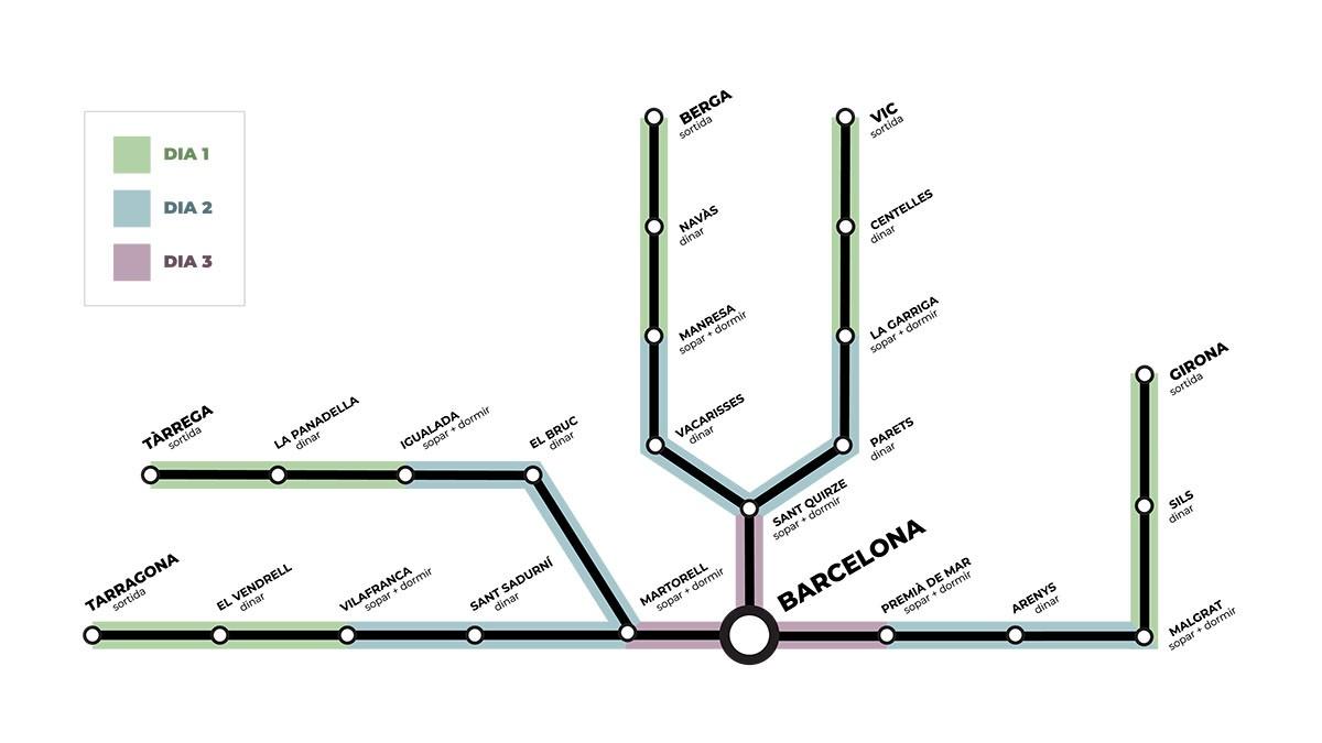 El mapa de les Marxes per la Llibertat