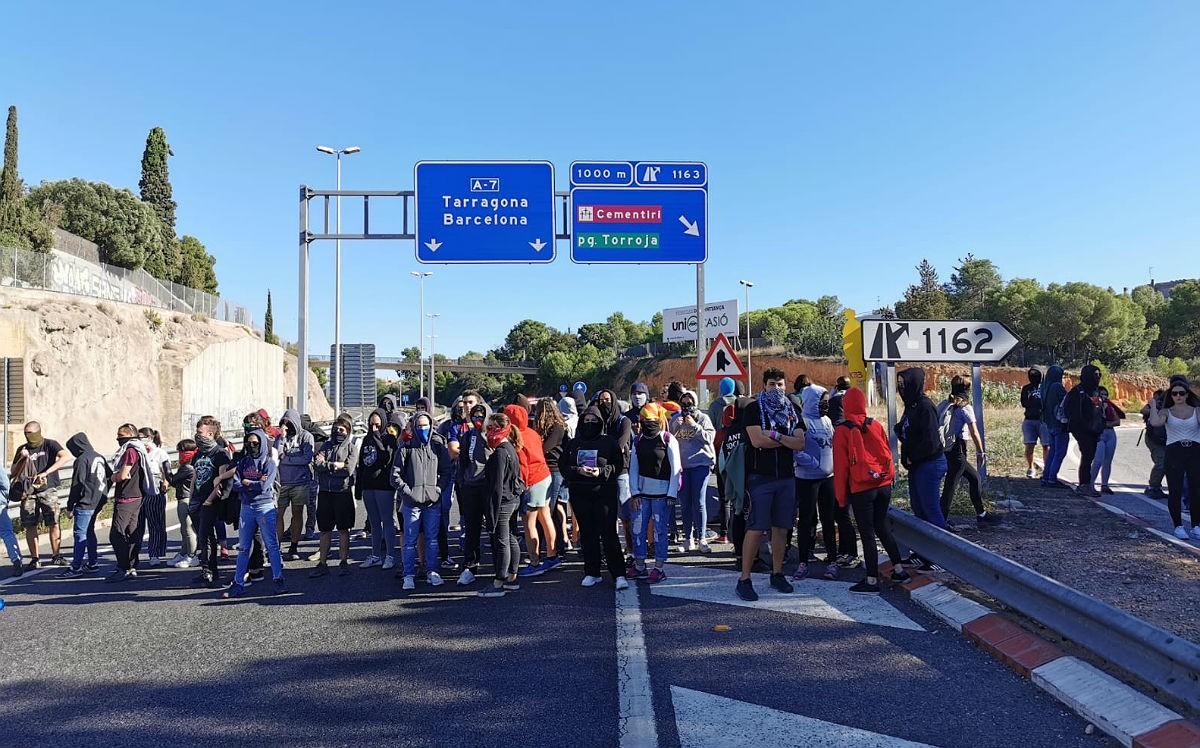 Tall a l'A-7 a Tarragona aquesta tarda.