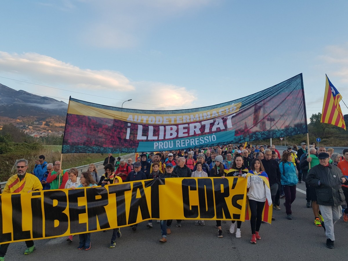 Manifestants a l'aeroport del Prat