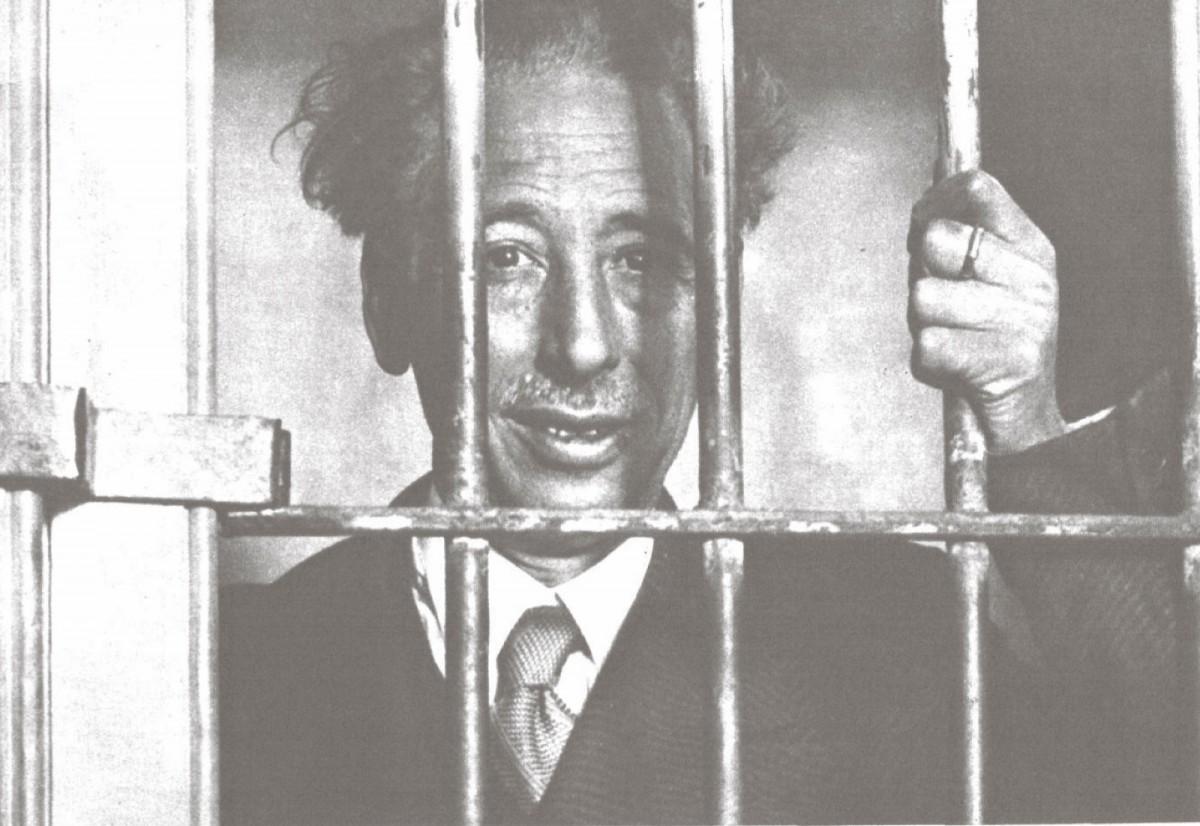 El 123è. president de la Generalitat, Lluís Companys, empresonat arran dels esdeveniments del 6 d'octubre de 1934.