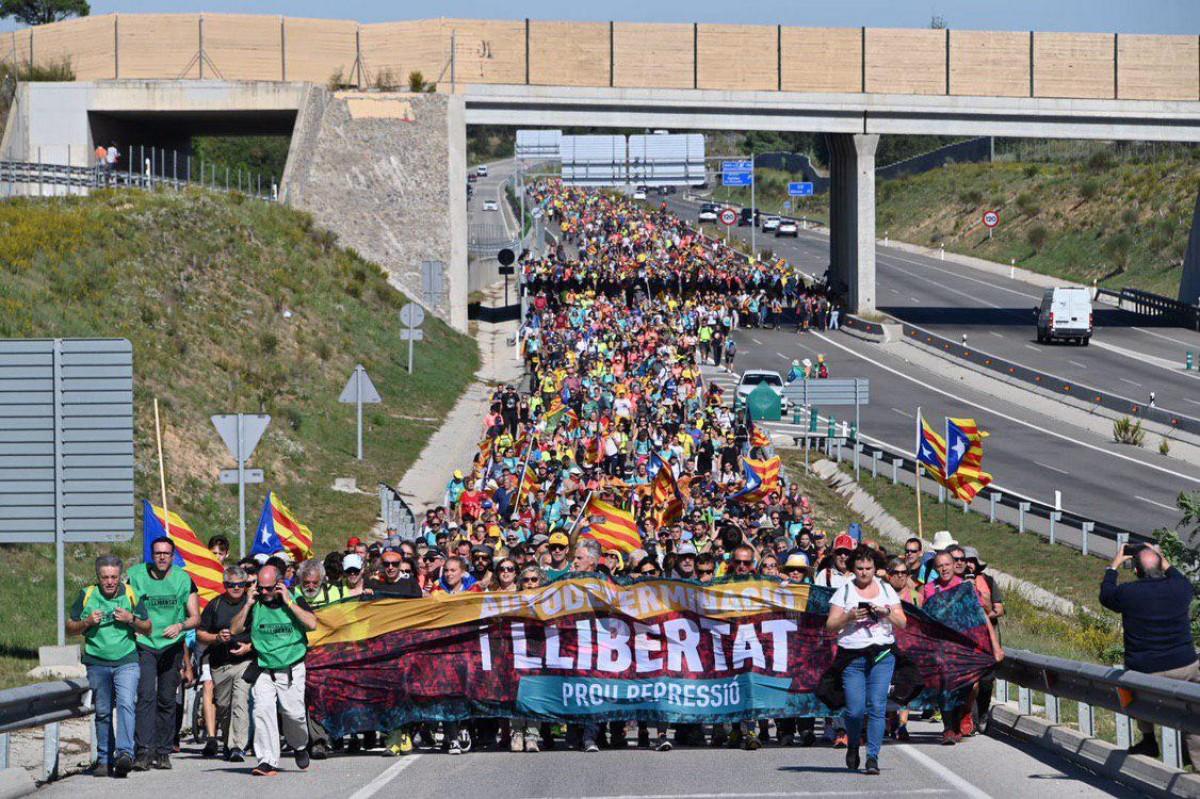 La marxa de Girona contra la sentència