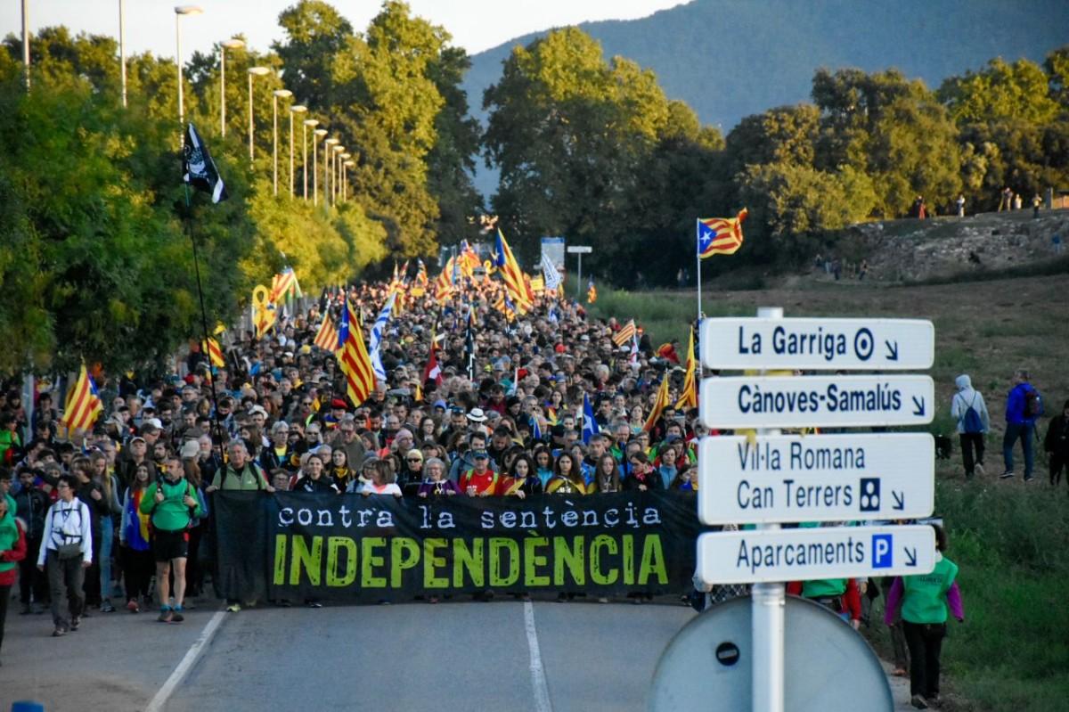 Les Marxes per la Llibertat avancen en direcció a Barcelona.