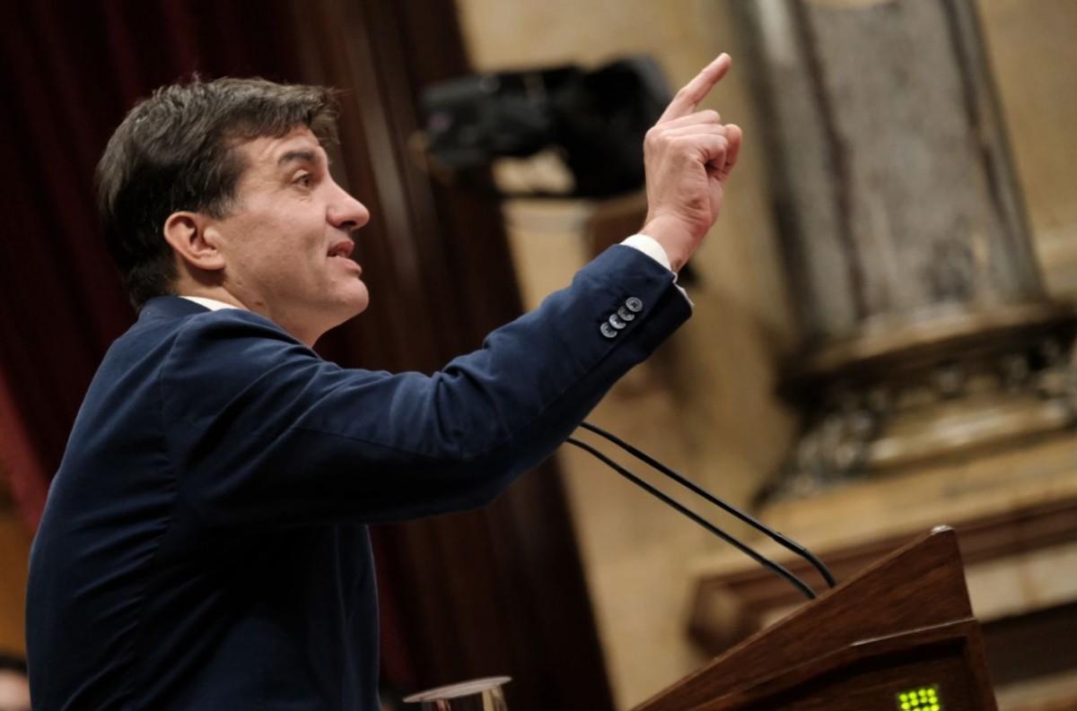 Sergi Sabrià, president del grup parlamentari d'ERC, aquest dijous al Parlament