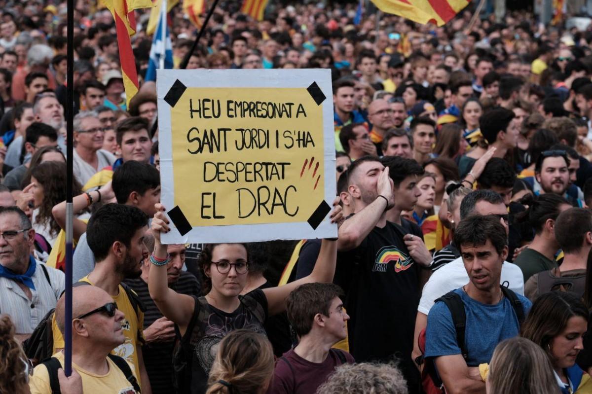 Joves manifestants durant aquesta setmana de mobilitzacions