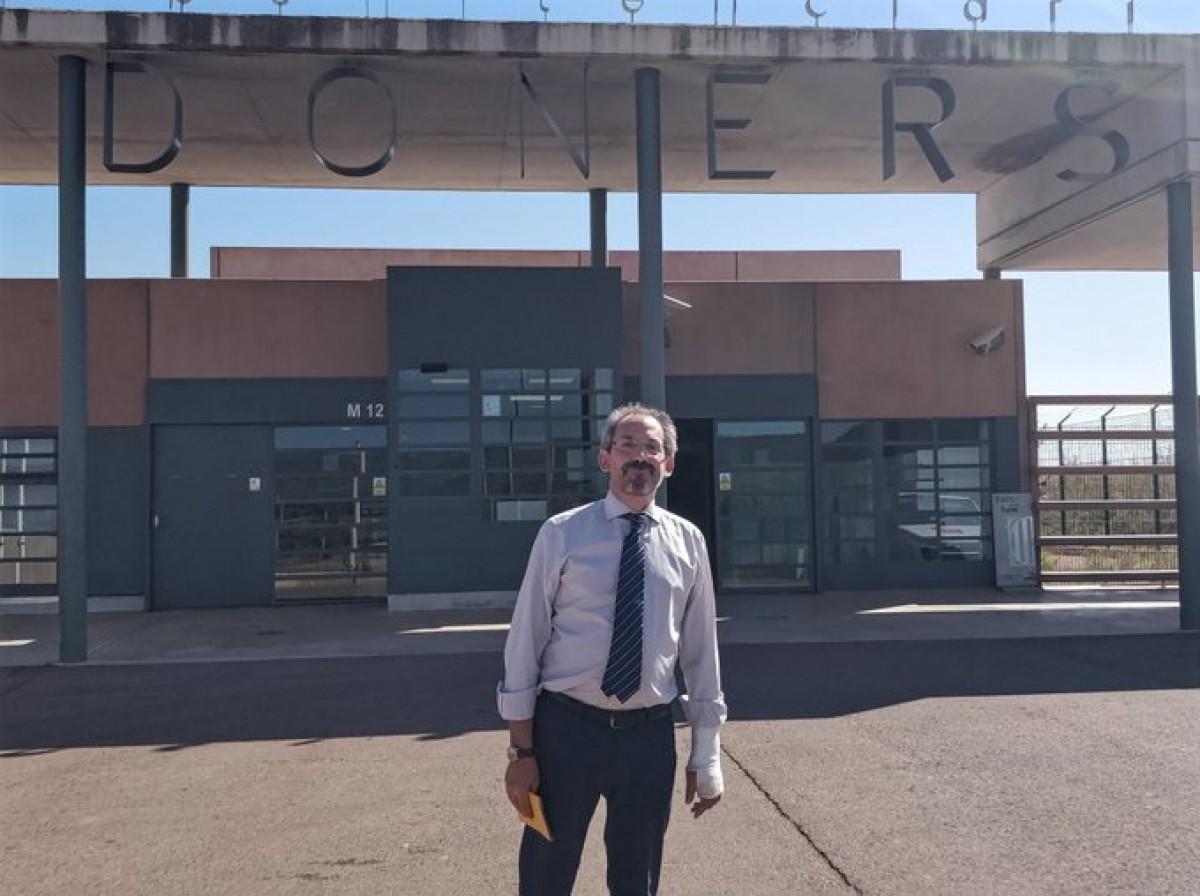 Joaquín Urías després de visitar els presos a Lledoners.