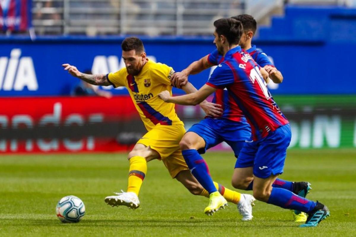 Messi, en un moment del partit contra l'Eibar