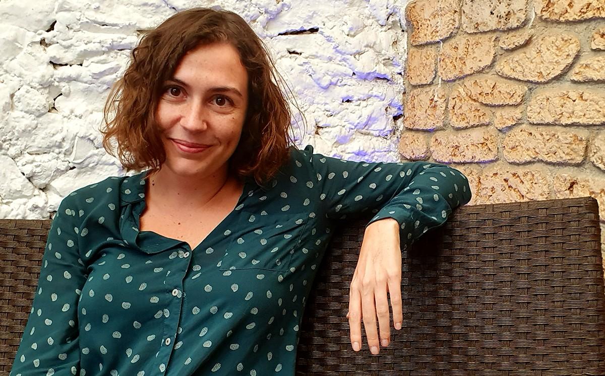 Maria Climent durant l'entrevista