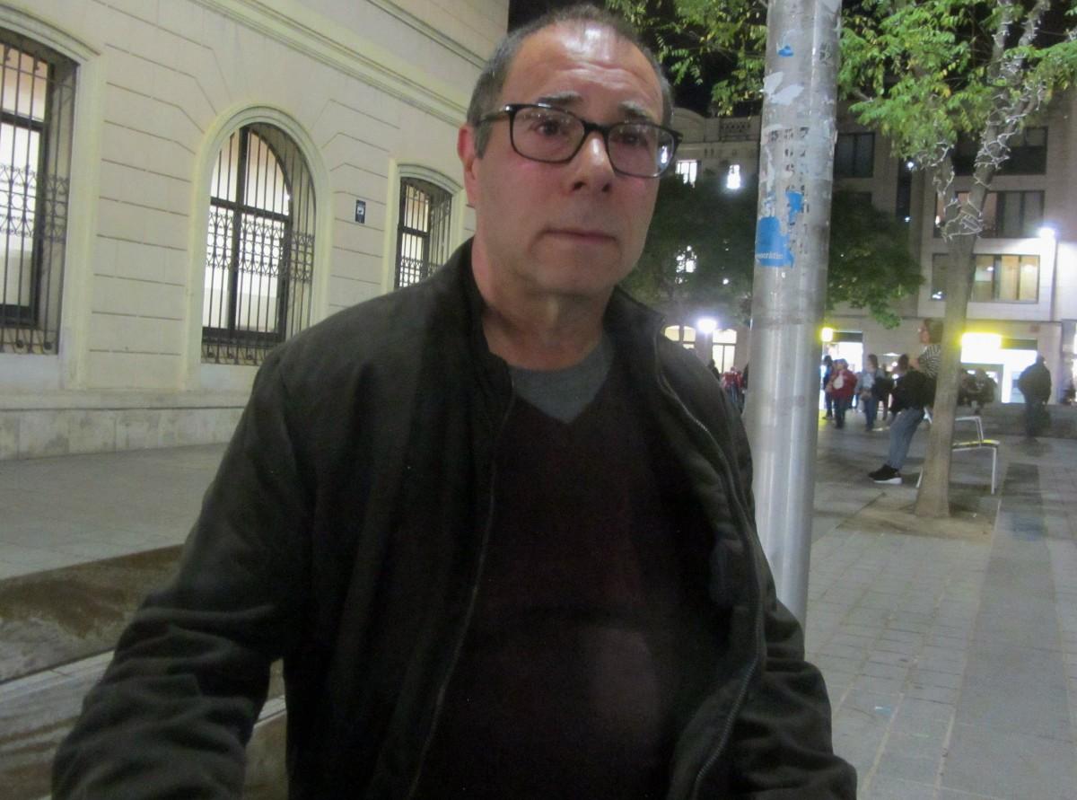 Amador Ruiz, de la plataforma pensionistes de Sabadell