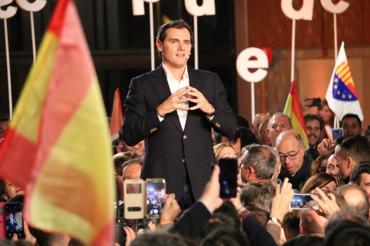Albert Rivera, divendres al Palau de Congressos de Barcelona