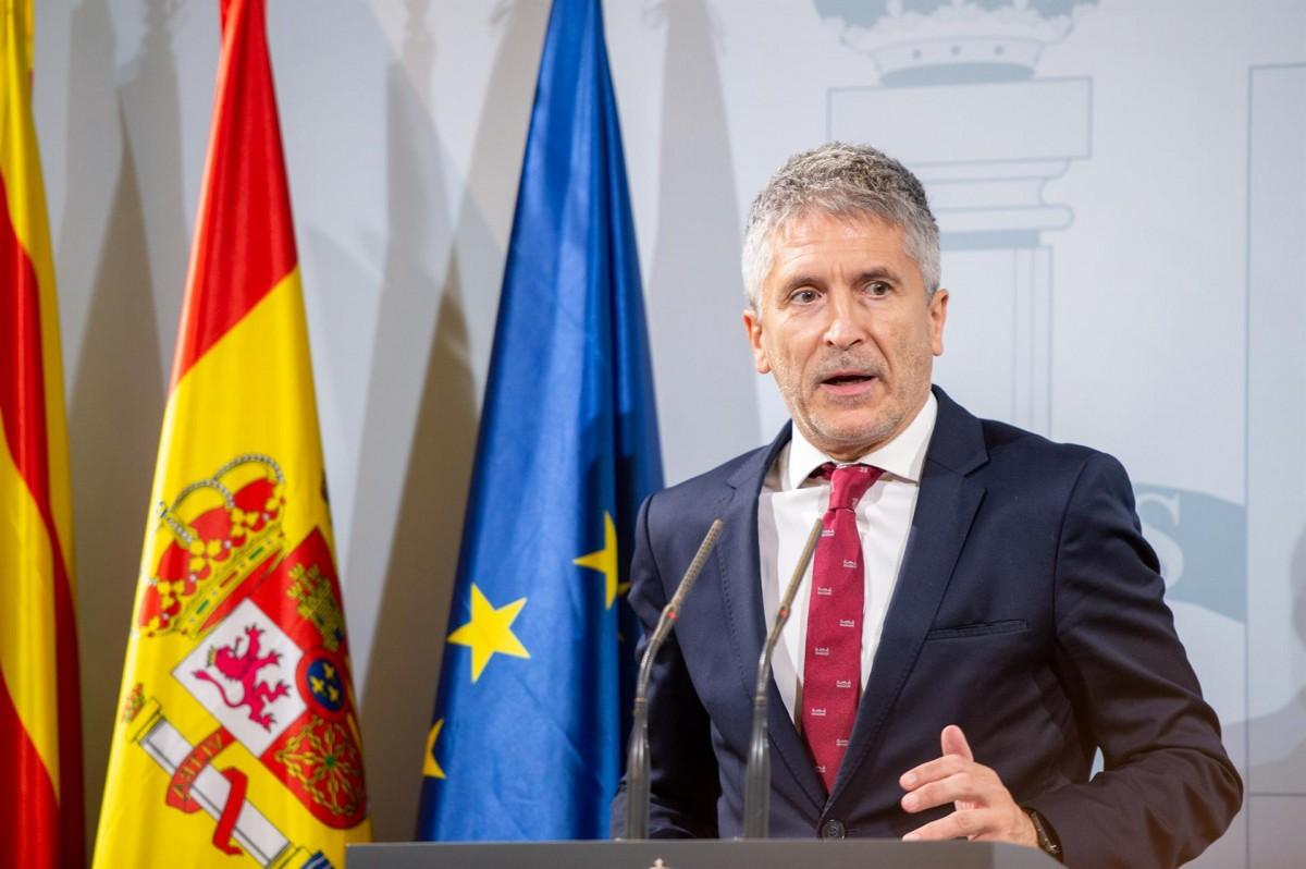Fernando Grande-Marlaska, en una compareixença informativa